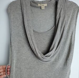 Forever 21 Cowl shawl collar grey top with loop